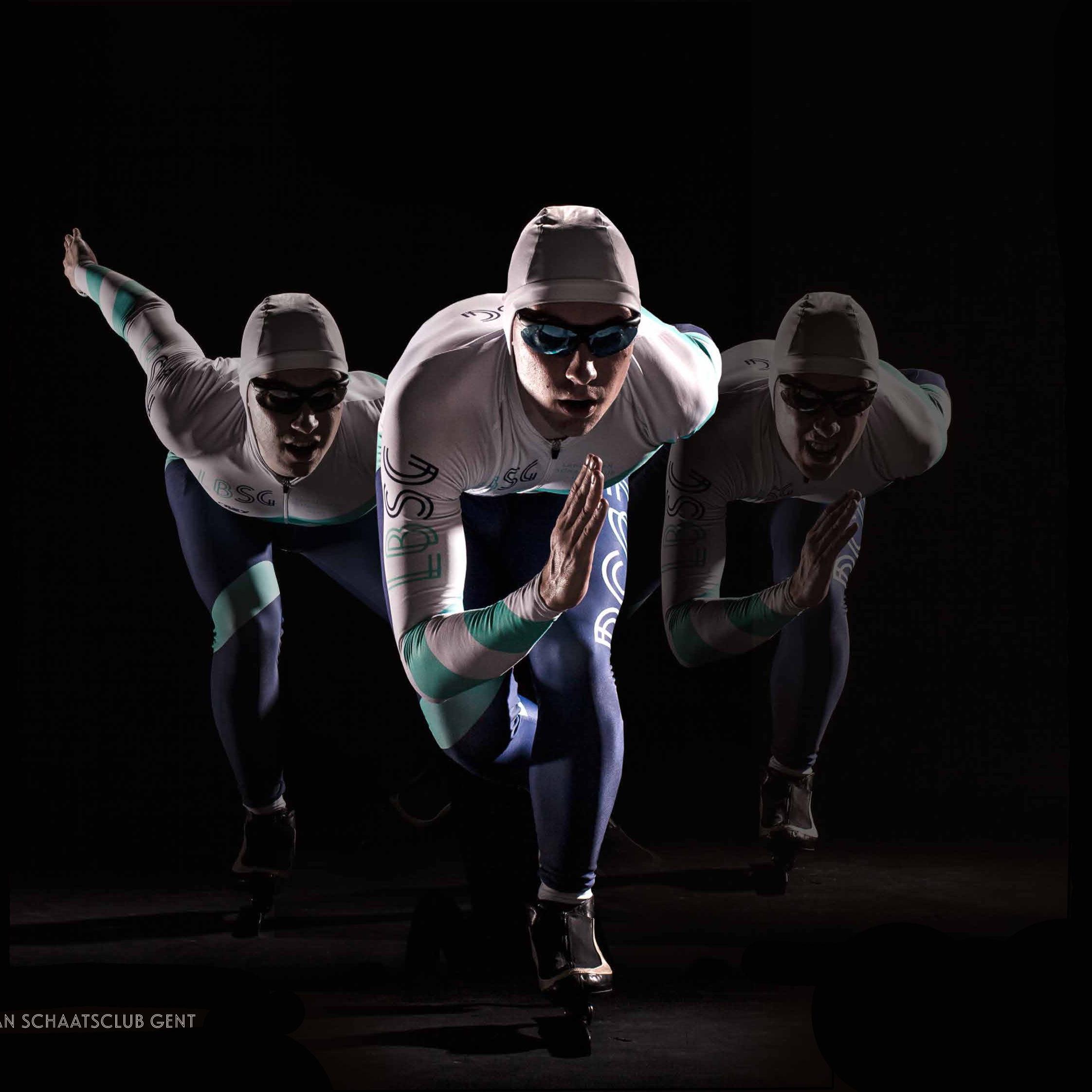 Sportkleding ontwerpen. Schaatskleding. Schaatskleding eigen ontwerp. Schaatspak op maat. Skinsuit.